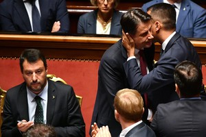 Premier Giuseppe Conte addresses to the Senate (ANSA)