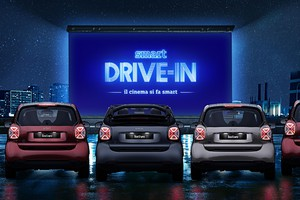 Smart suitegrey, la limited edition si trasforma in drive in (ANSA)