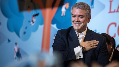 Ivan Duque is elected president of Colombia(ANSA)